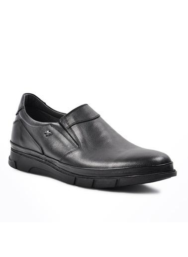 Dr.Flexer 311031 Siyah Erkek Hakiki Deri Günlük Ayakkabı Siyah